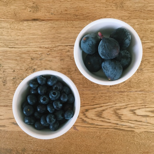 Fresh figs and blueberries from my local market