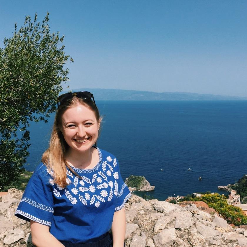 Wearing People Tree's Mara top in Sicily