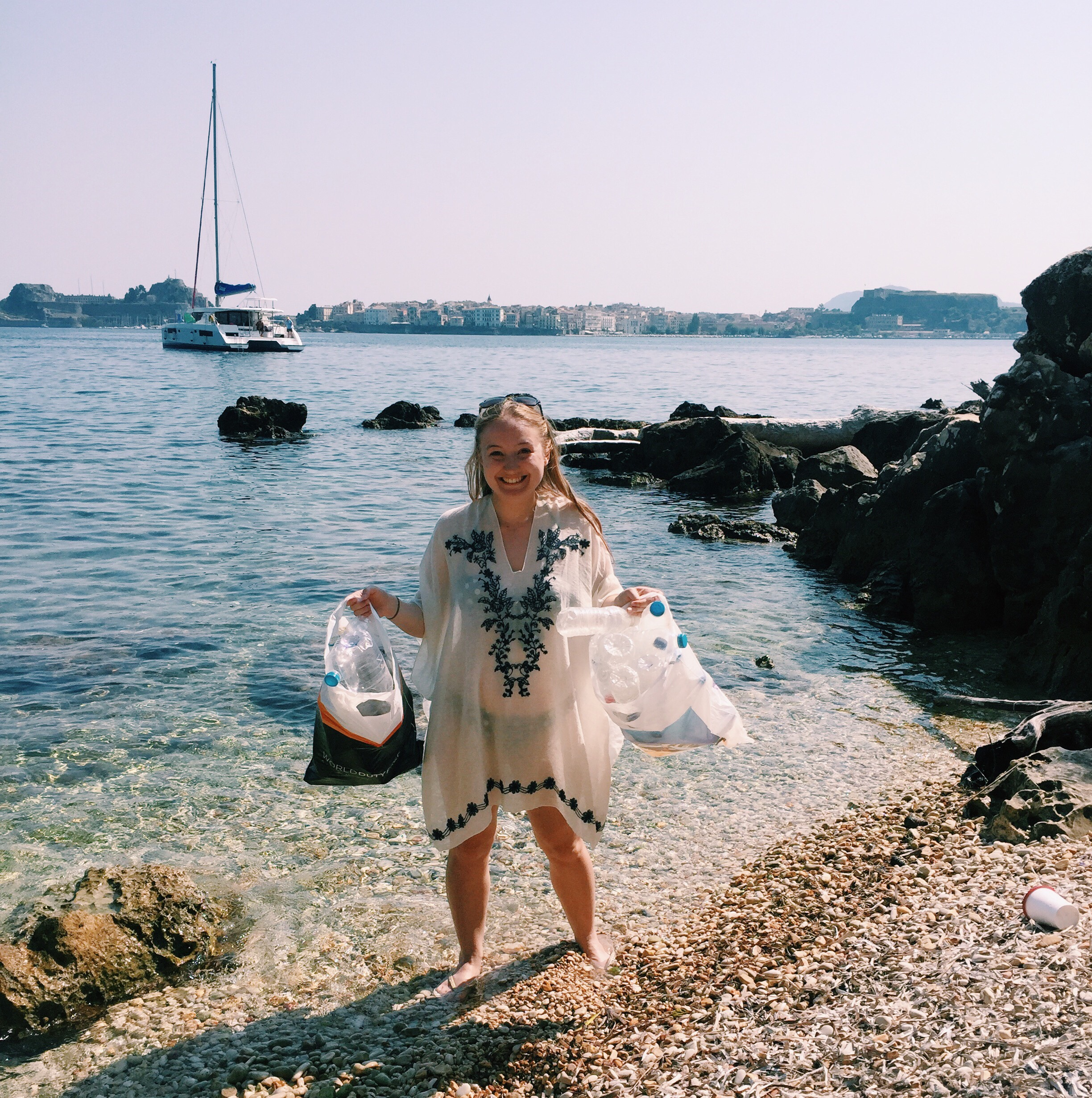 Sailing in Corfu: My Plastic Pledge & Beach Clean